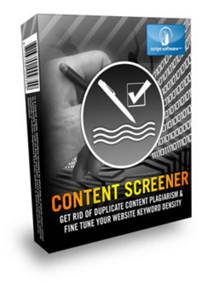 Product picture Content Screener - Resell Rights